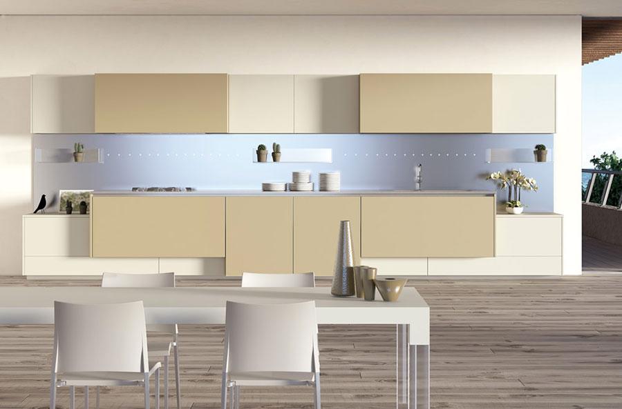 Modello di cucina dal design futuristico n.06
