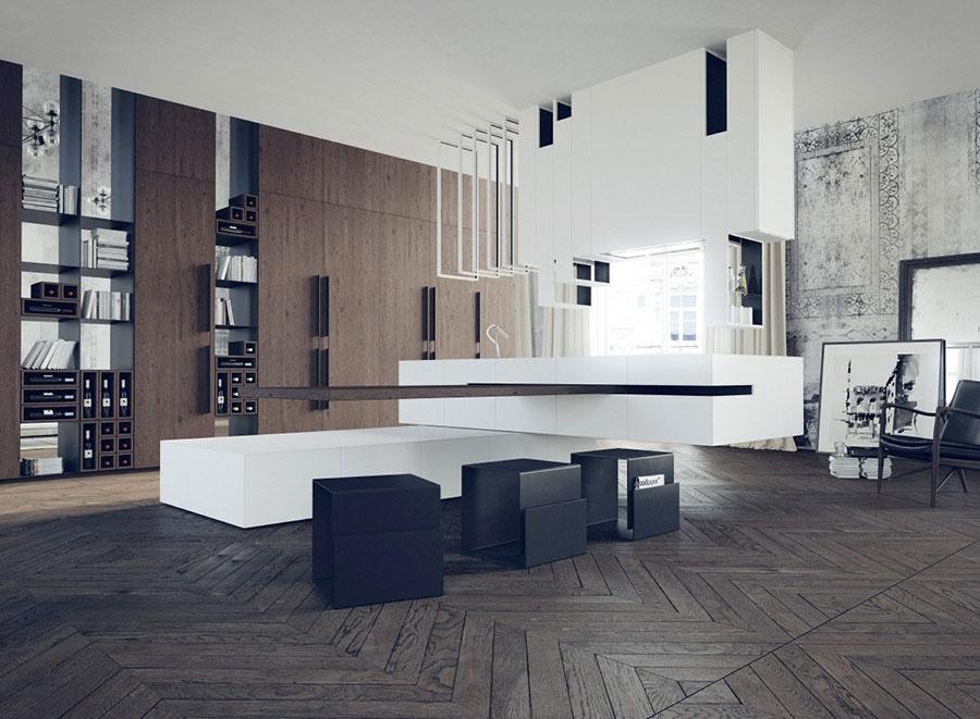 Modello di cucina dal design futuristico n.07