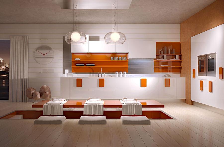 Modello di cucina dal design futuristico n.08
