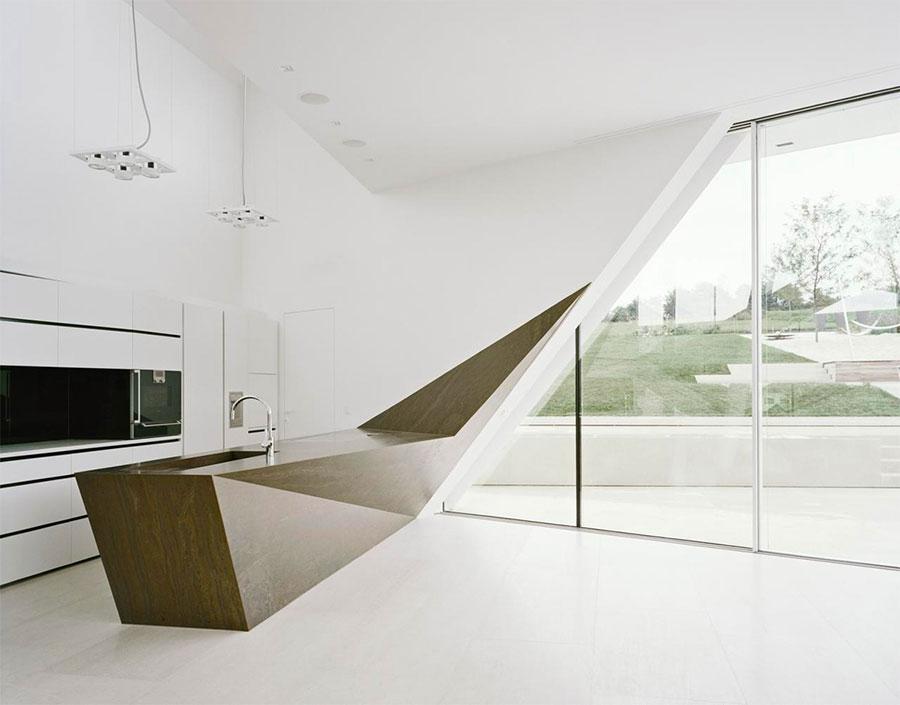 Modello di cucina dal design futuristico n.09