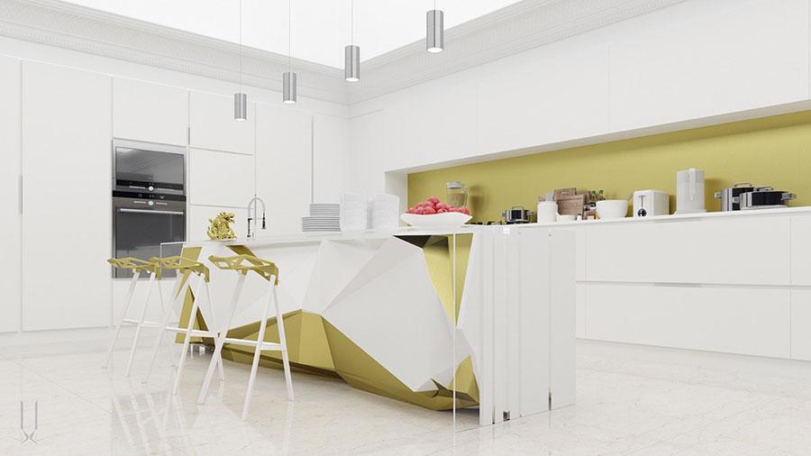 Modello di cucina dal design futuristico n.17