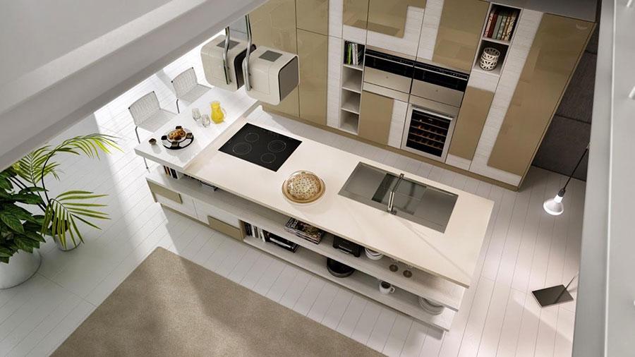 Modello di cucina dal design futuristico n.19