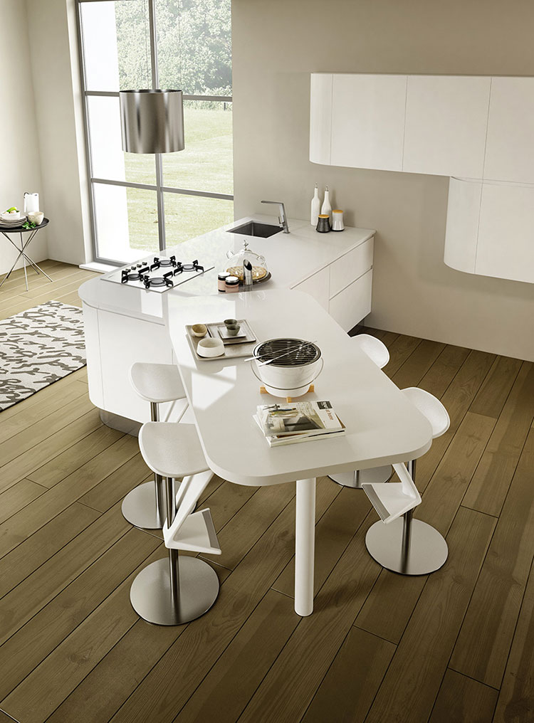 Modello di cucina dal design futuristico n.20
