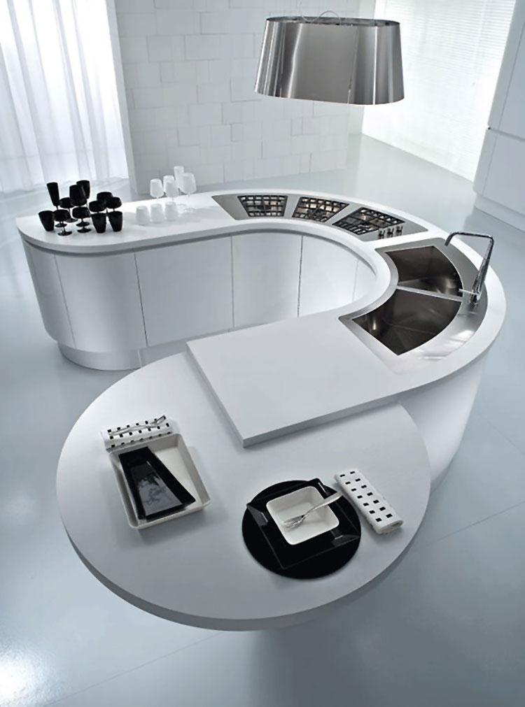 Modello di cucina bianca moderna n.03
