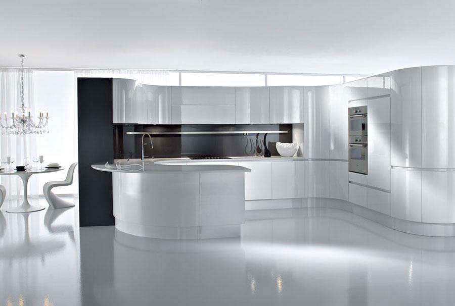 Modello di cucina bianca moderna n.04