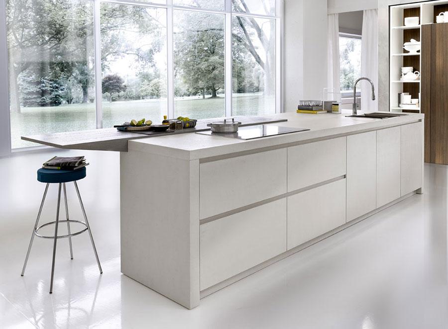 Modello di cucina bianca moderna n.05