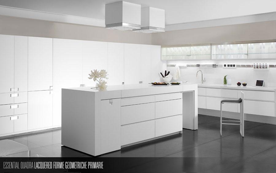 Modello di cucina bianca moderna n.07