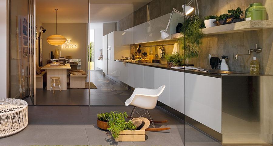 Modello di cucina bianca moderna n.10