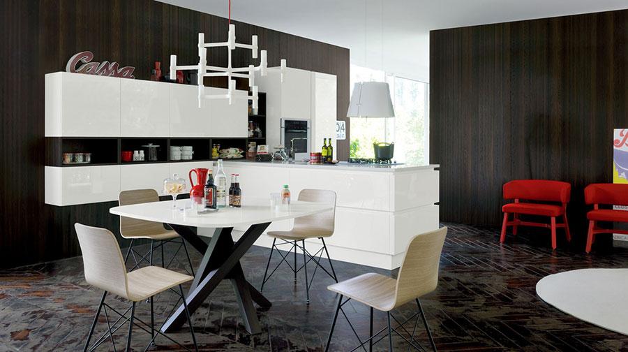 Modello di cucina bianca moderna n.11
