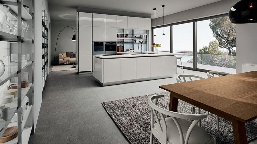 Modello di cucina bianca moderna n.12