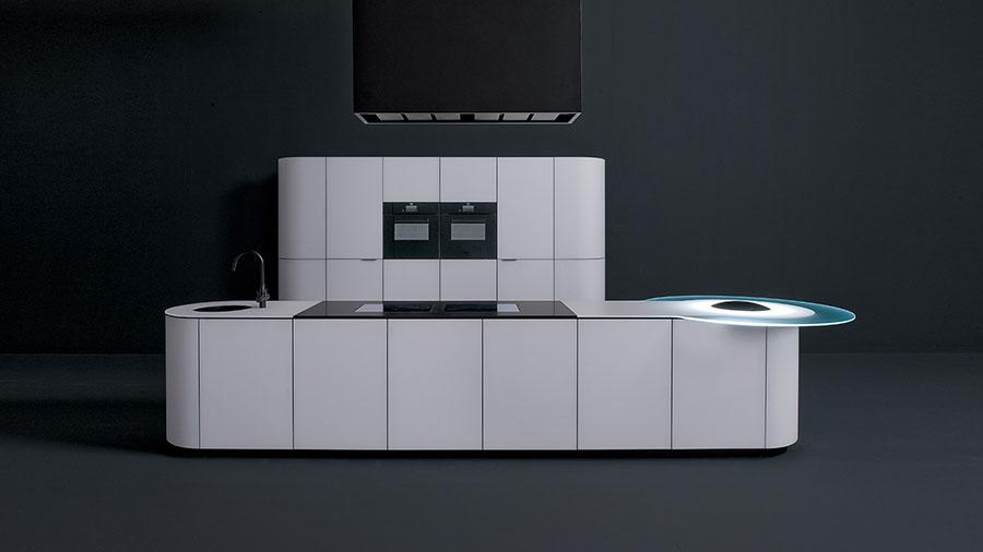 Modello di cucina bianca moderna n.13