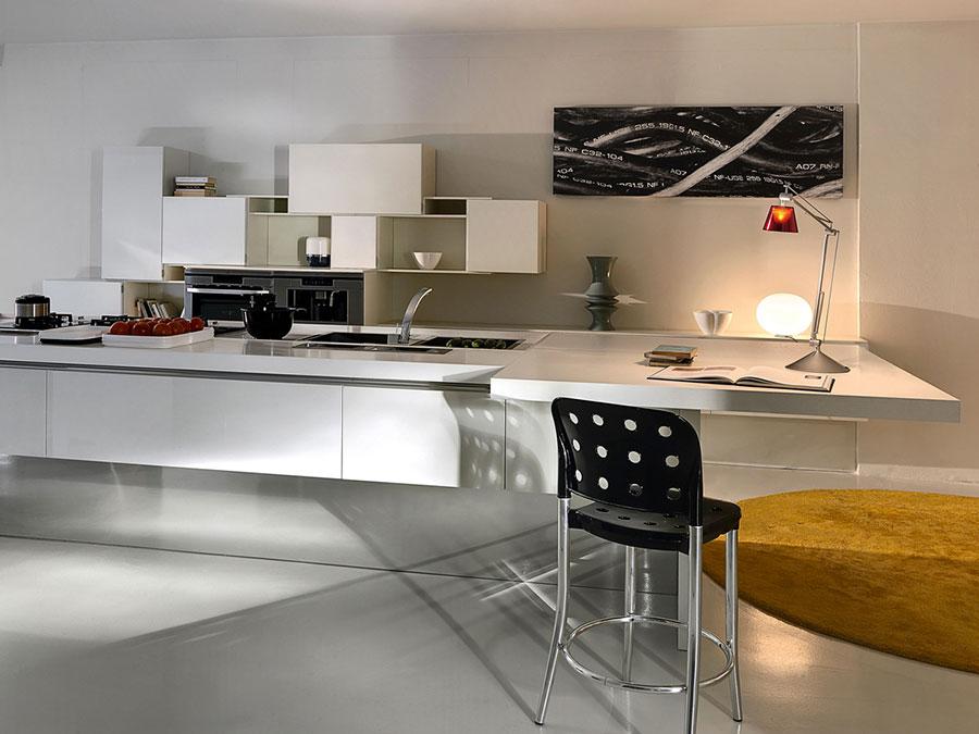 Modello di cucina bianca moderna n.19