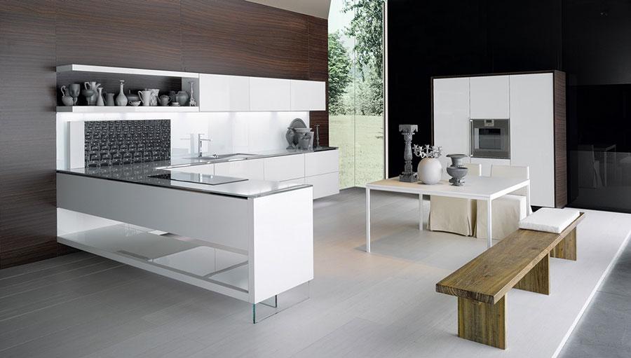 Modello di cucina bianca moderna n.20