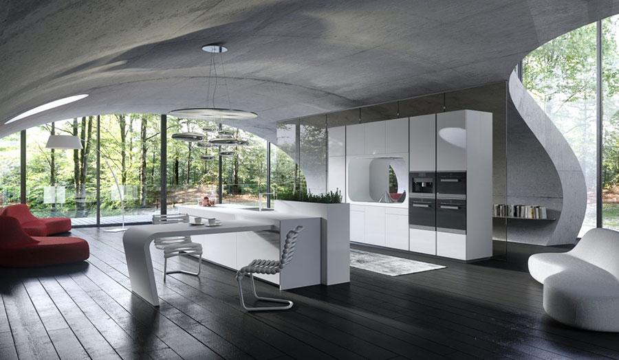 Modello di cucina bianca moderna n.23