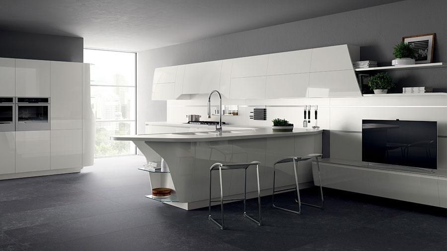 Modello di cucina bianca moderna n.24