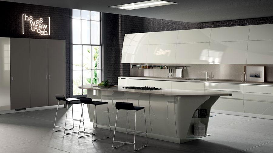 Modello di cucina bianca moderna n.25