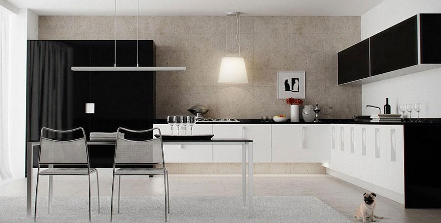 Cucina bianca e nera
