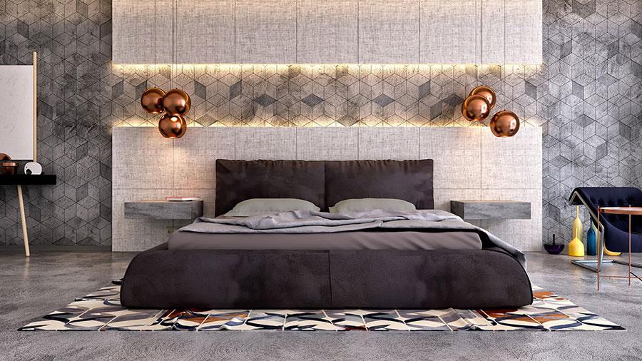 Lampada a sospensione per la camera da letto dal design moderno n.01