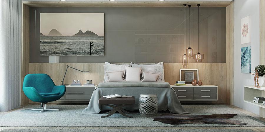 Lampada a sospensione per la camera da letto dal design moderno n.05