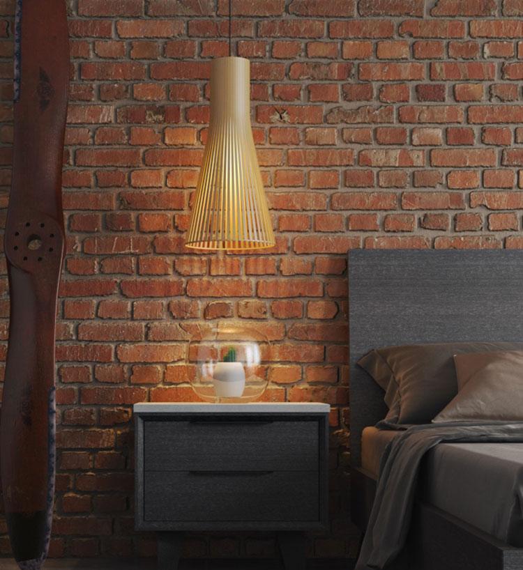 Lampada a sospensione per la camera da letto dal design moderno n.12