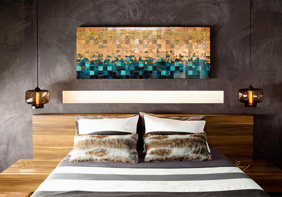 Lampada a sospensione per la camera da letto dal design moderno n.28