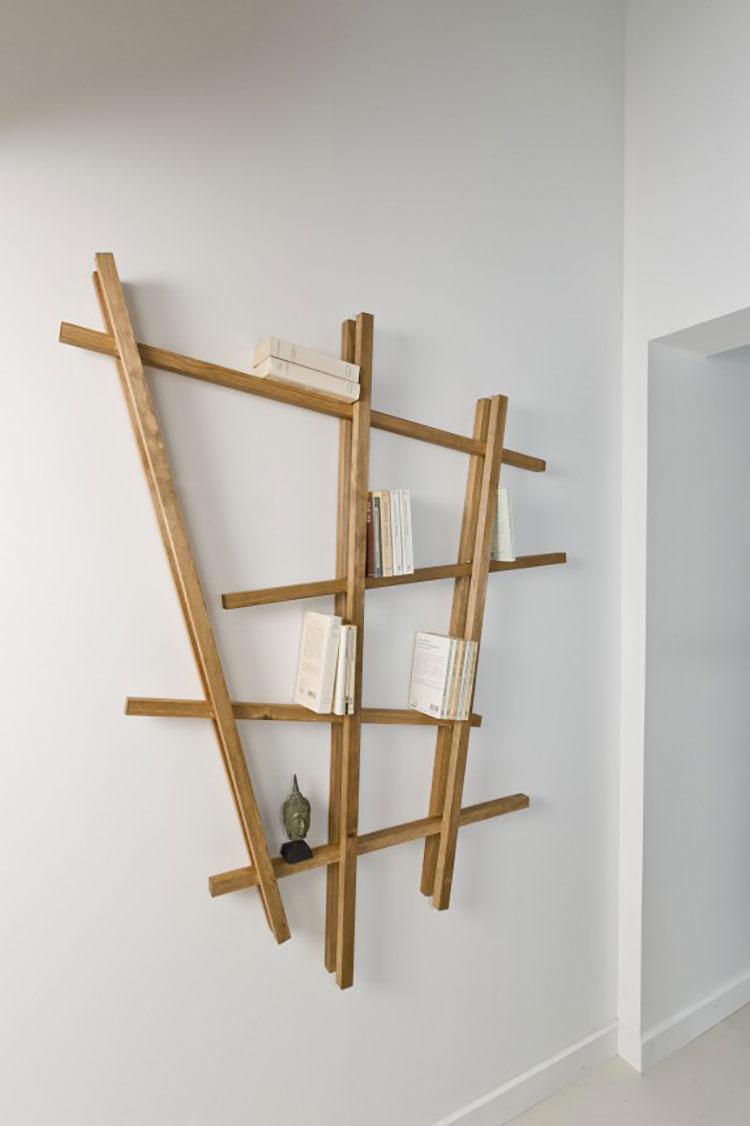 Modello di mensola in legno fai da te in legno n.01