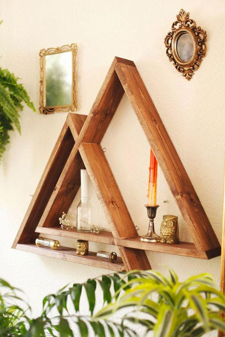 Modello di mensola in legno fai da te in legno n.05