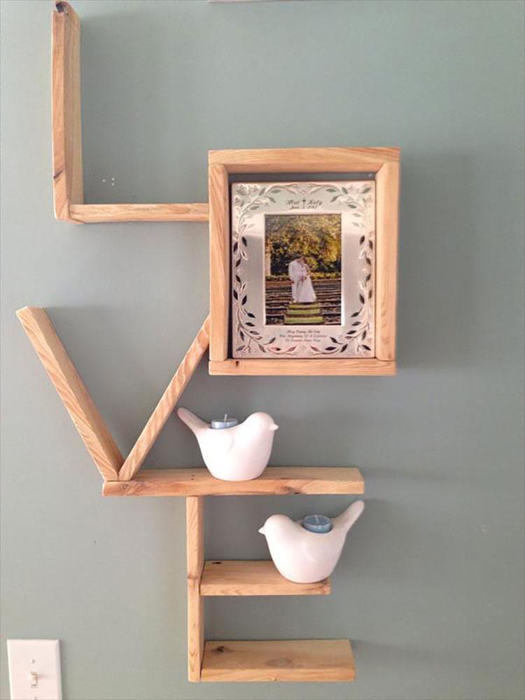 Modello di mensola in legno fai da te in legno n.08