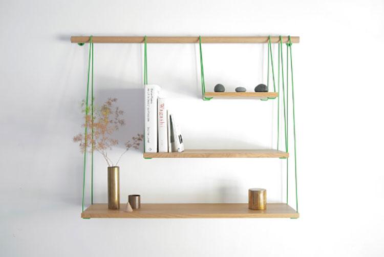 Modello di mensola in legno fai da te in legno n.10