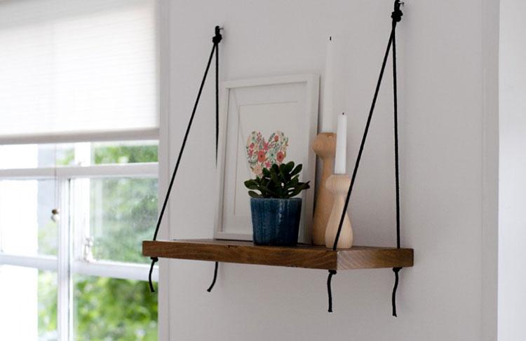 Modello di mensola in legno fai da te in legno n.11