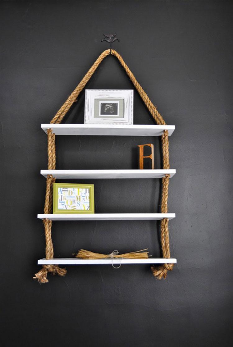 Modello di mensola in legno fai da te in legno n.12