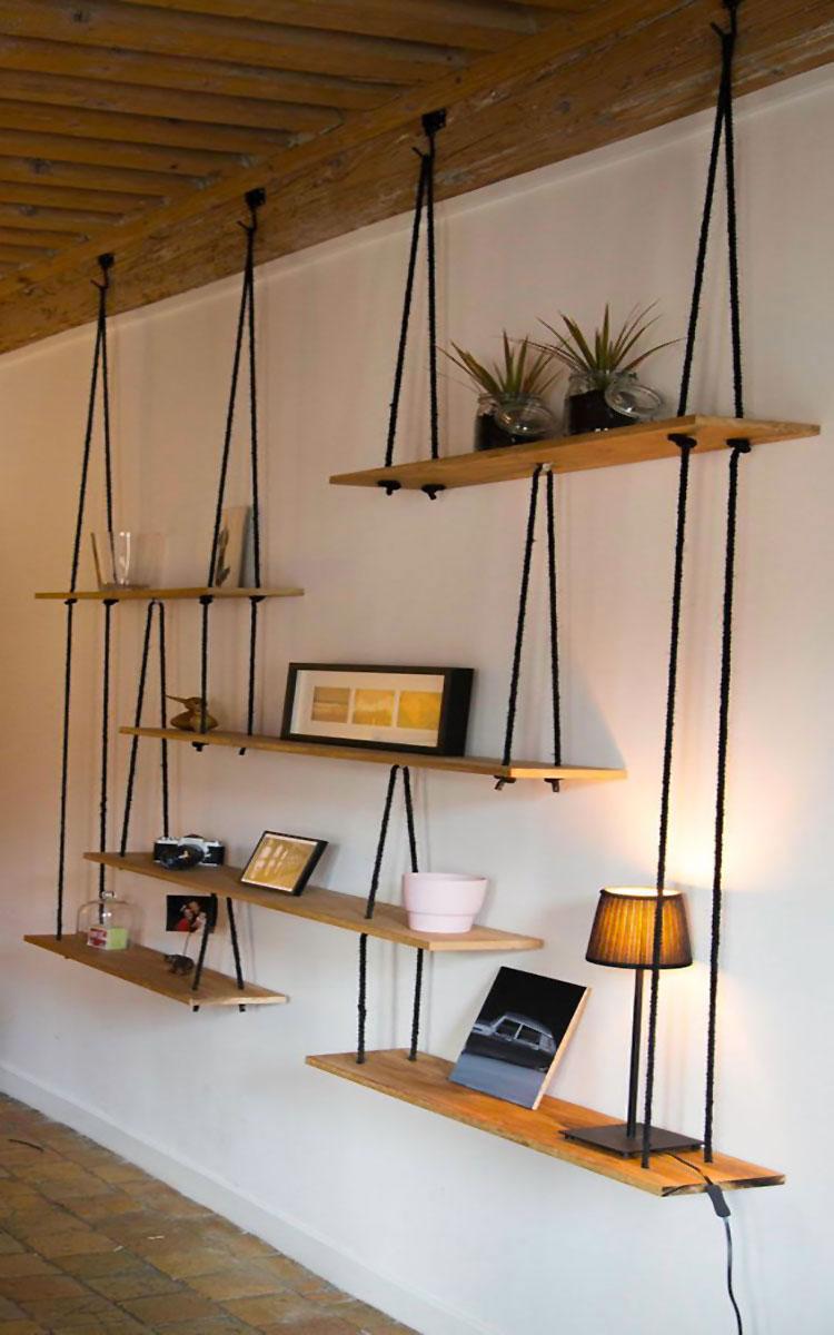 Mensole fai da te in legno 20 semplici idee originali e for Bancone in legno fai da te