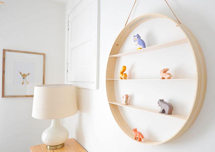 Modello di mensola in legno fai da te in legno n.15