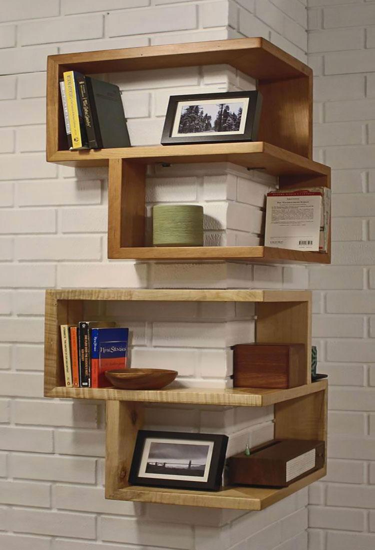 Mensole fai da te in legno 20 semplici idee originali e creative - Parete in legno fai da te ...