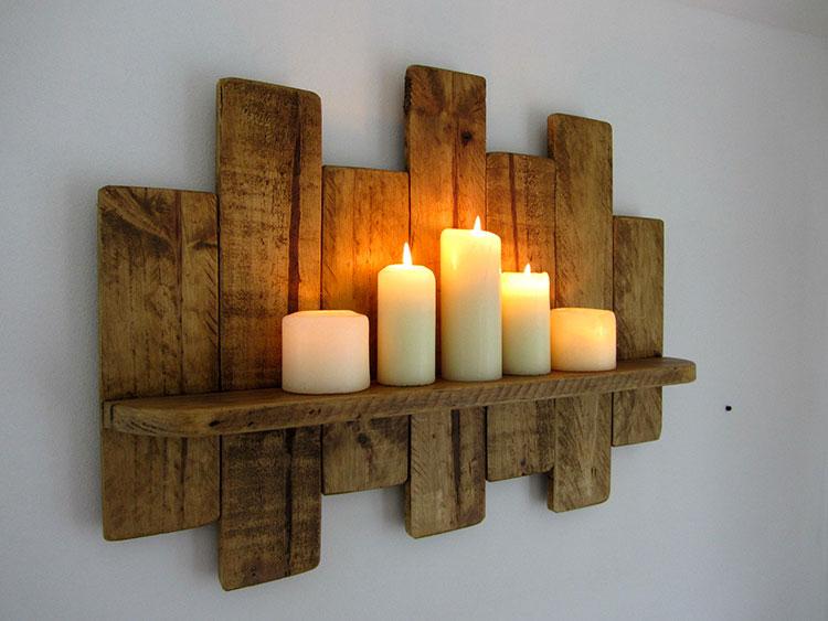 Modello di mensola in legno fai da te in legno n.17