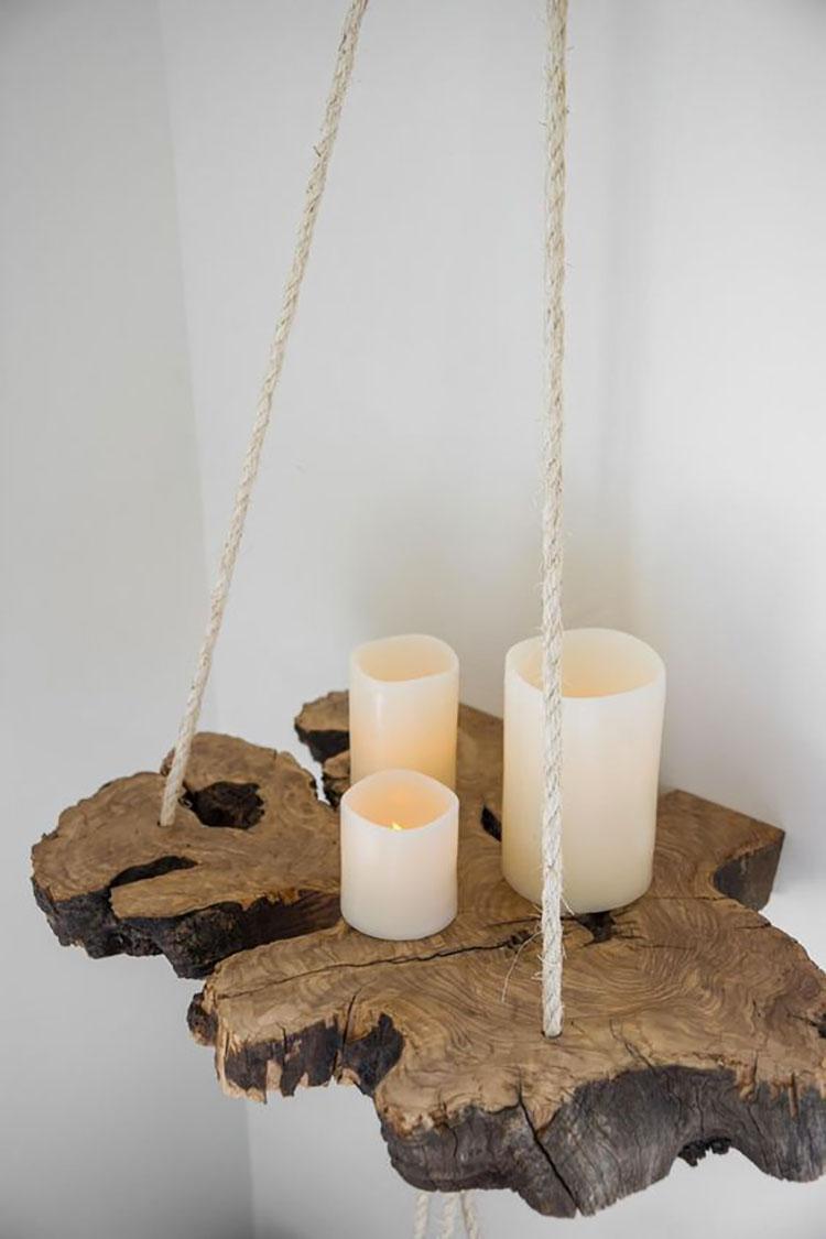 Modello di mensola in legno fai da te in legno n.18