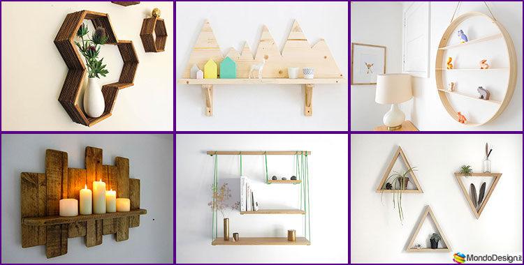 Mensole fai da te in legno 20 semplici idee originali e for Oggetti x la casa fai da te