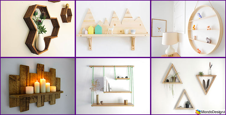 Mensole fai da te in legno 20 semplici idee originali e for Cose per la casa fai da te