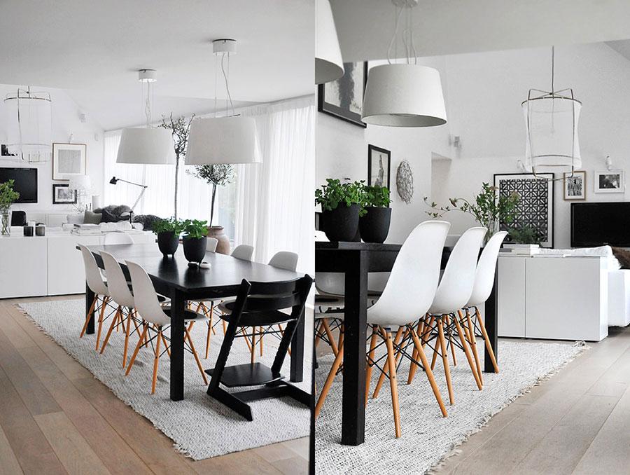 Sala da pranzo bianca e nera 25 idee per un arredamento for Arredamento sala da pranzo