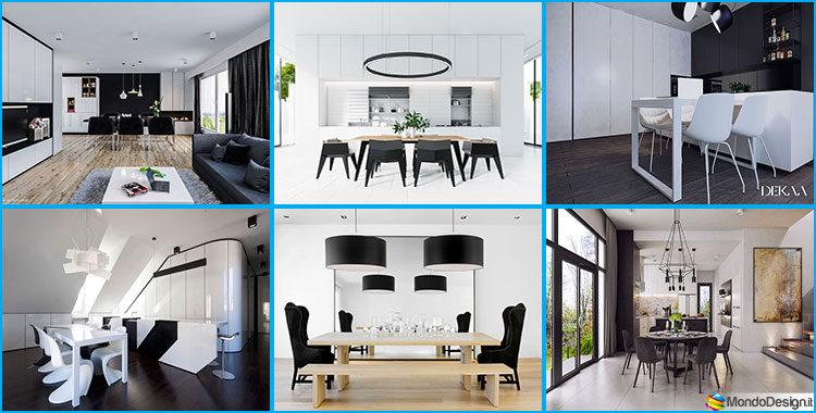 Sala Da Pranzo Moderna Bianca E Nera.Sala Da Pranzo Bianca E Nera 25 Idee Per Un Arredamento