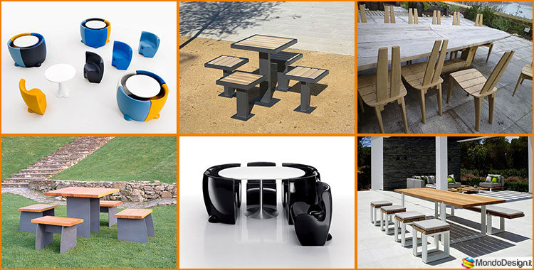 Tavoli E Sedie Da Giardino Design.Set Tavolo E Sedie Da Giardino Dal Design Particolare