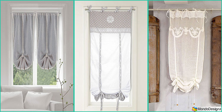 30 stupende tende shabby chic in vendita online for Tende interni design