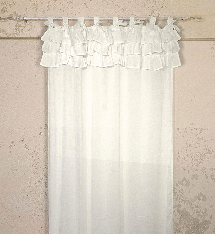 30 stupende tende shabby chic in vendita online - Tende finestra camera da letto ...