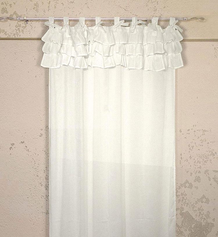 30 stupende tende shabby chic in vendita online for Tende da camera da letto immagini