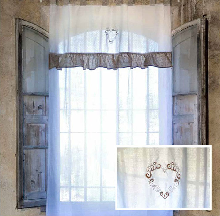 Tende Salotto Country.30 Stupende Tende Shabby Chic In Vendita Online Mondodesign It