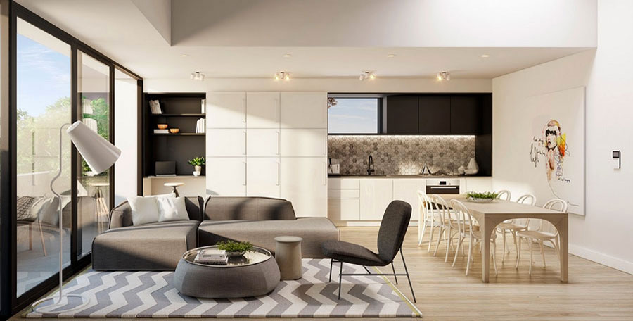 Progetti open space cucina soggiorno