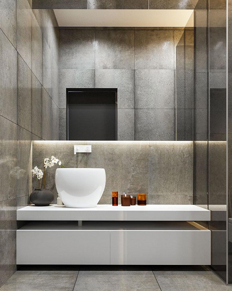 Bagni minimal tanti esempi di arredo dal design for Arredamento minimalista design