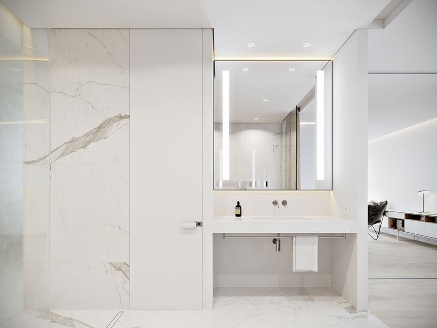 Idee per arredare un bagno bianco moderno n.19