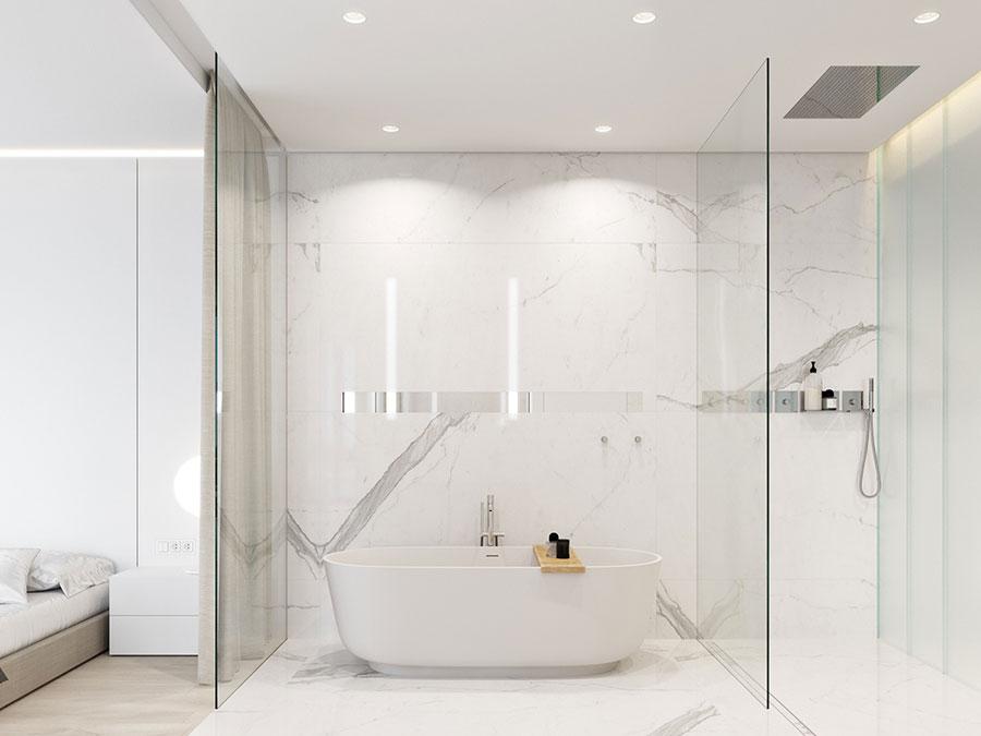 Idee per arredare un bagno bianco moderno n.20