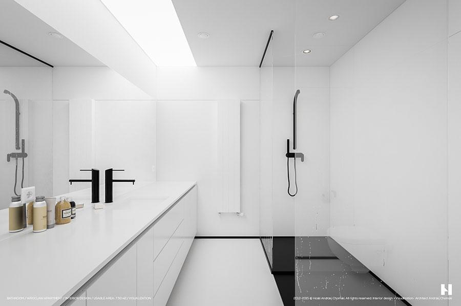Idee per arredare un bagno bianco moderno n.15
